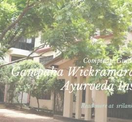 Gampaha Wickramarachchi Ayurveda Institute