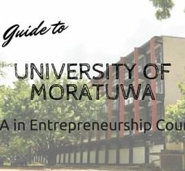 University of Moratuwa MBA