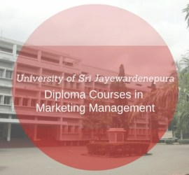 university of sri jayawardenapura diploma courses
