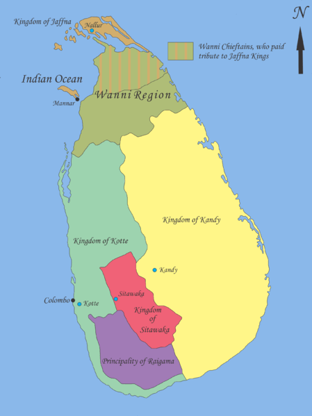 Kotte Kingdom Map