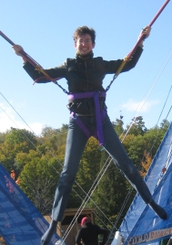 Me at present, on a bouncy bungee flyer thing