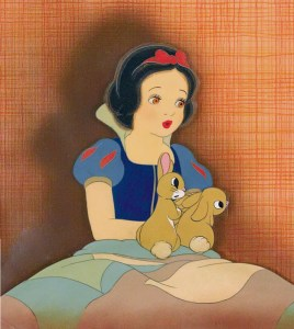 #001 SNOW WHITE AND RABBITS COURVOISIER SET-UP Image