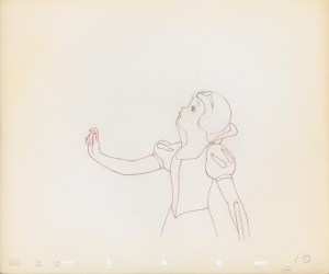 #002 ANIMATION DRAWING of SNOW WHITE Image