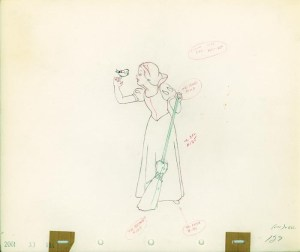 #004 ANIMATION DRAWING of SNOW WHITE Image