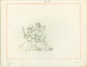 #017 LAYOUT SKETCH OF GRUMPY ON STAG Image