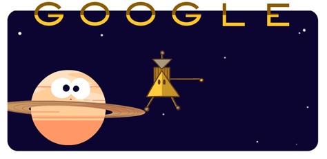 cassini saturn google doodle
