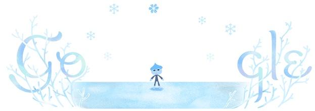 Google Doodle winter solstice 2018 northern hemisphere