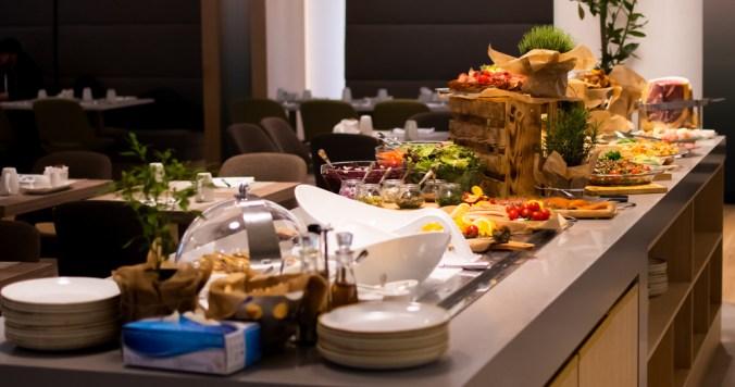 indoor food buffet