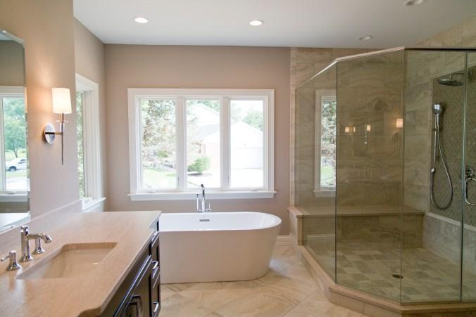 custom spec home master bath design