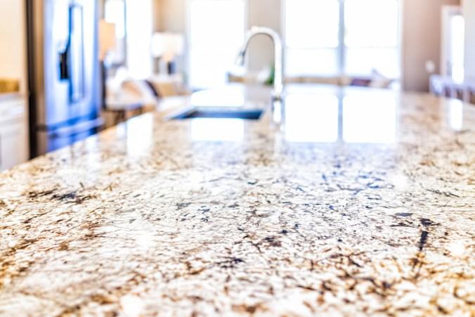 granite countertop close-up