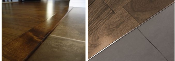 wood to tile threshold types