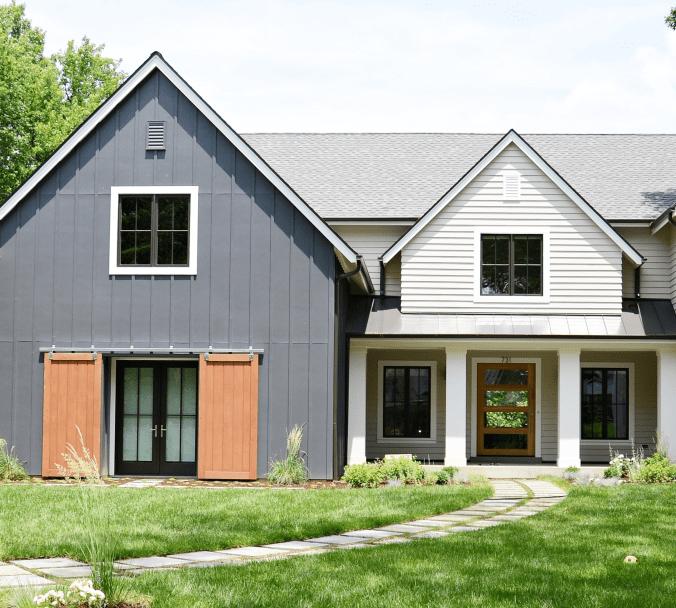 Laurel Farmhouse home front entrance design