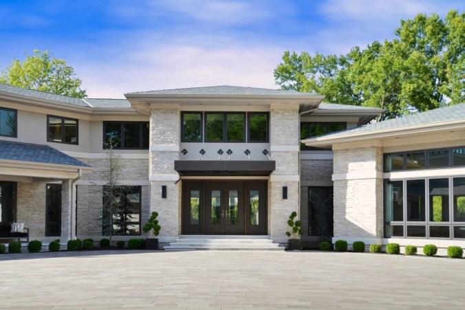 Modern Villa home front entrance design