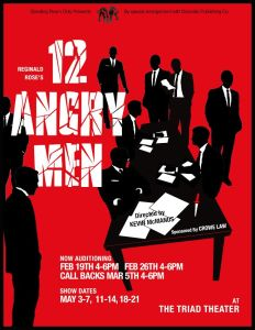 12 Angry Men Audition poster