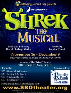 SHREK THE MUSICAL @ Triad Theater | Yelm | Washington | United States