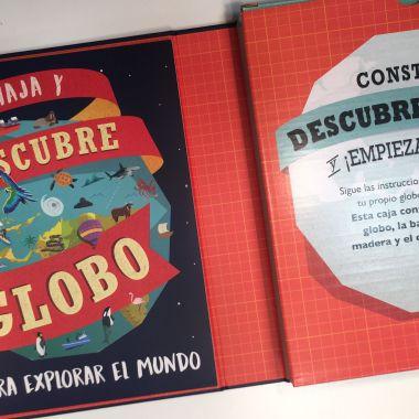 descubre el globo, libro con puzzle, el mundo para los niños, libros para niños