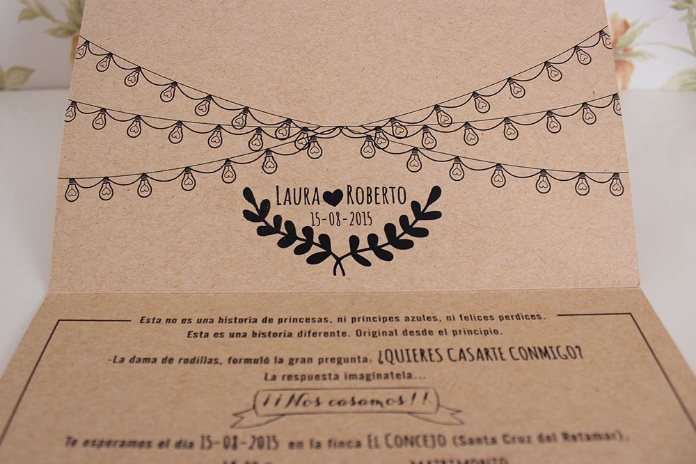 Invitación de boda craft5