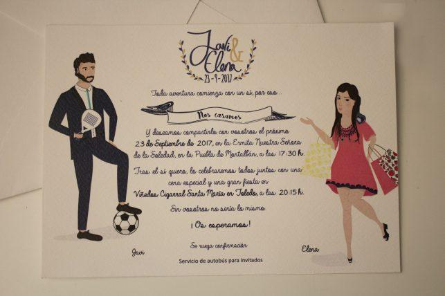 Invitación de boda ilustración