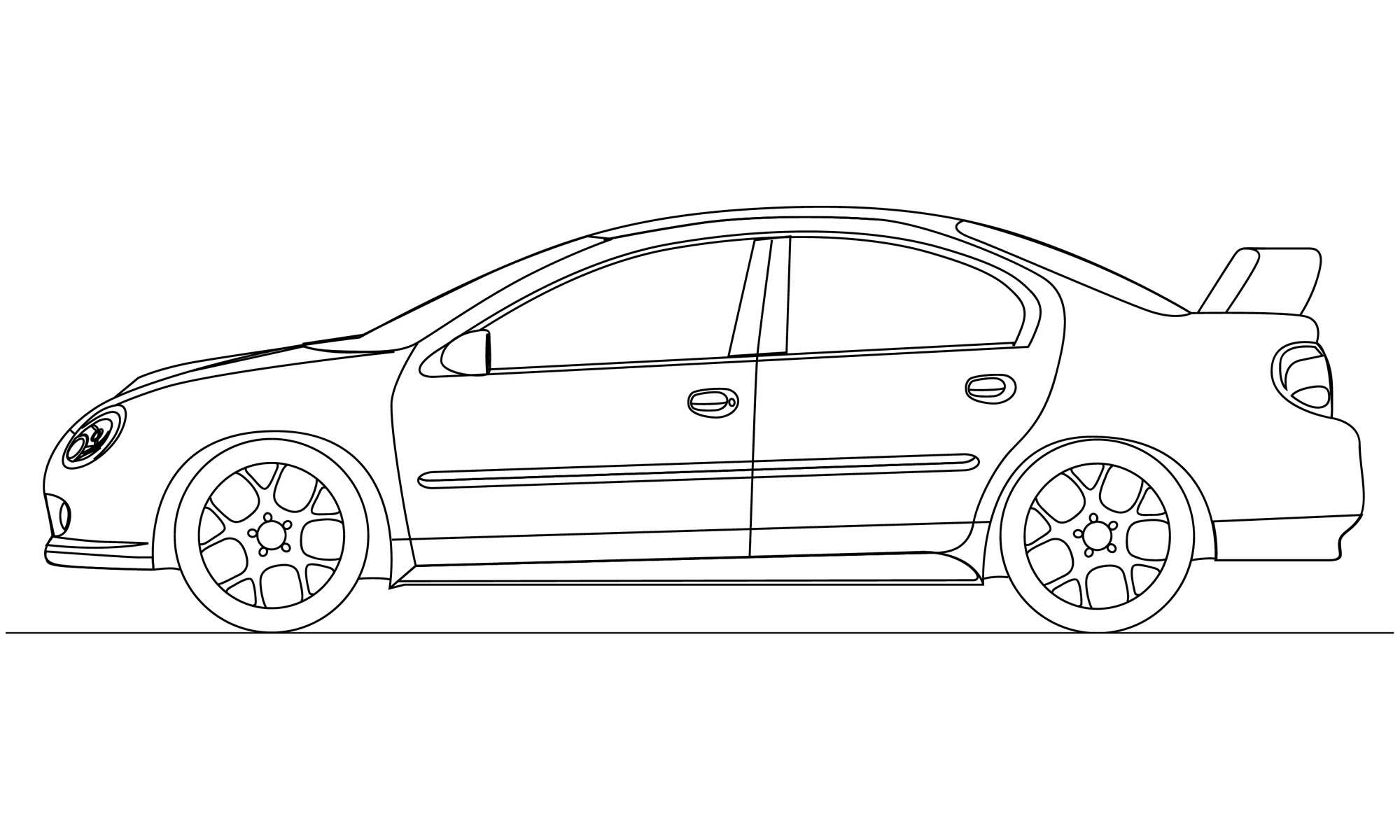 Srt 4 Line Drawing