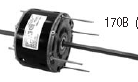 Century electric motor 170B 1/6,1/10,1/15HP, 1625 RPM 3 Speed, 208-230VAC, 48Y Frame