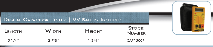 New Digital Capacitor Tester