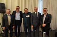 Paulo Parente, Marcelo Trindade, Tarcísio Motta, Gabriel Di Biasi e Sidney Rezende. Foto: Divulgação