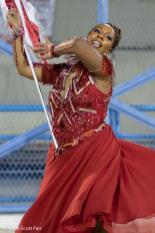 Segunda porta-bandeira do Salgueiro, Natália Pereira, no ensaio técnico 2019. Foto: Justin Scott Parr