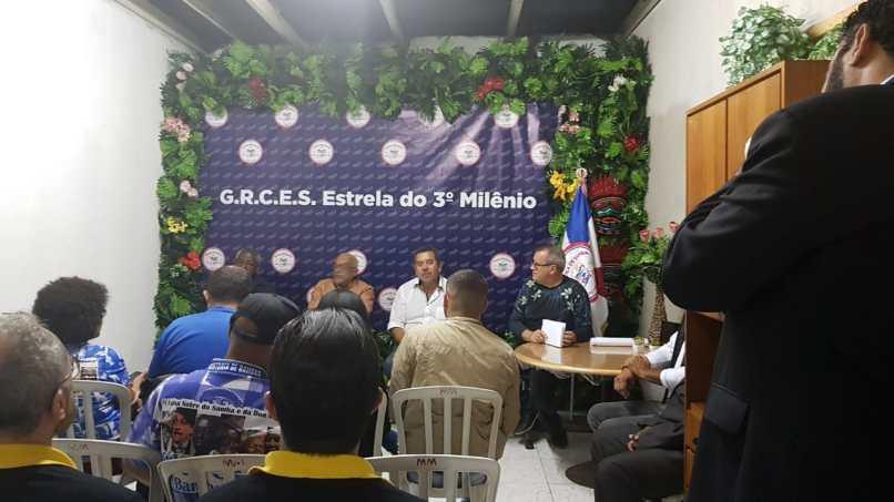 Lançamento do enredo 2020 da Estrela do Terceiro Milênio. Foto: SRzd