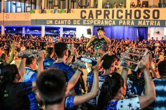 Segundo ensaio de arena do Caprichoso no Curral. Foto: Pedro Coelho, Arleison Cruz e Glenda Dinely