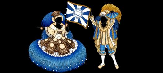 1º Casal de Mestre Sala e Porta Bandeira O português Manoel e a negra Isabel