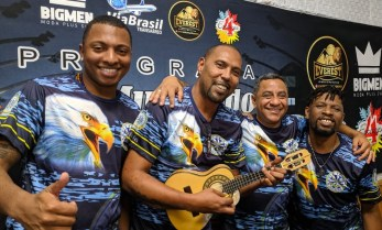 """Águia de Ouro participa do """"Programa No Mundo do Samba"""". Foto: Rádio Trianon"""