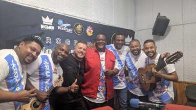 """""""Programa No Mundo do Samba"""" recebe Daniel Collete e Fenandinho SP. Foto: Rádio Trianon."""