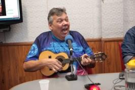 """""""Programa No Mundo do Samba"""" recebe Clovis Pê, Vitor Velloso e Polenghe do Cavaco. Foto: Igor Cantanhede"""