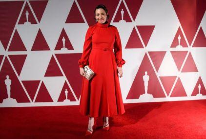 Indicada ao Oscar de melhor atriz coadjuvante, Olivia Colman chega ao National Film Theatre, BFI Southbank, sede de apoio do Oscar 2021 em Londres (Foto: Divulgação / ©A.M.P.A.S. – Crédito: AP Photo/Alberto Pezzali, Pool).