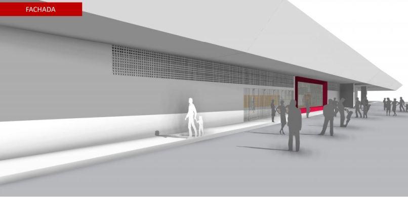 Projeto de reforma da quadra da Mocidade Unida da Mooca. Foto: Divulgação