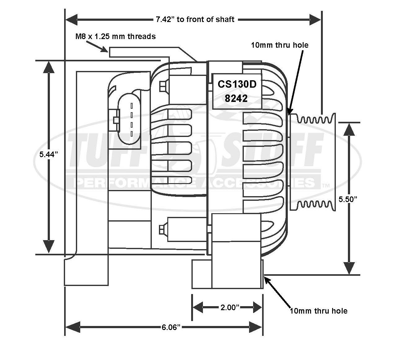 Camaro Ls1 125 Amp Alternator 6 Groove Pulley