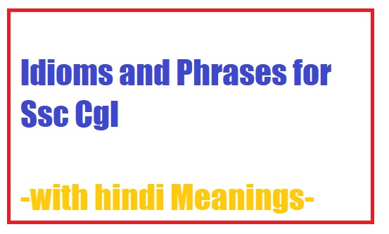 Idioms And Phrases With Hindi Meaning Pdf