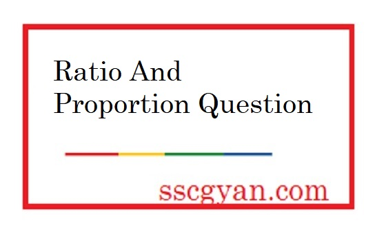 Ratio And Proportion Question