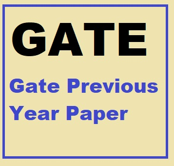 Gate Previous Year Paper
