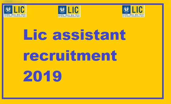 Lic assistant recruitment 2019