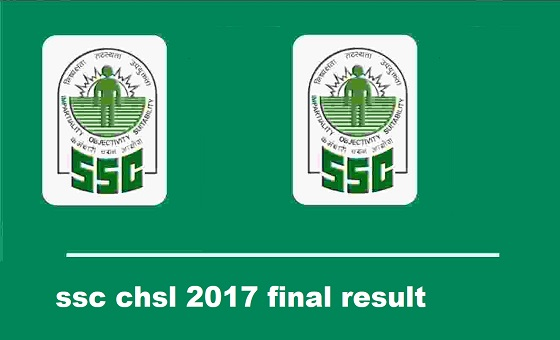 ssc chsl 2017 result