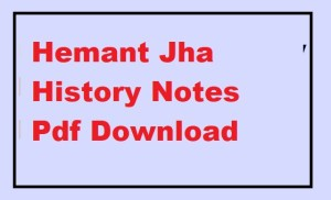 Hemant Jha History Notes Pdf Download