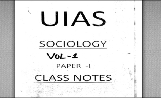 upendra sir sociology notes pdf