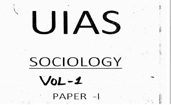 Uias Upendra Gaur Sociology