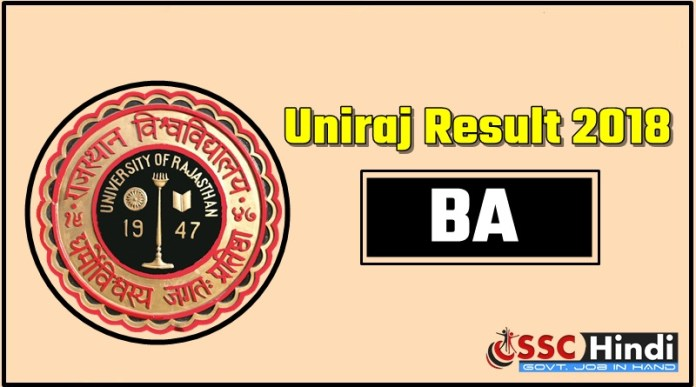 Rajasthan-Univresity-UniRaj-BA-1-BA-2-BA-3-First-Second-Third-Result-2018