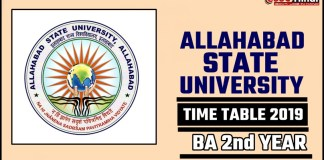Allahabad State University BA 2nd Year Time Table 2019