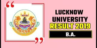 Lucknow University BA 1st 2nd 3rd Year Result 2019