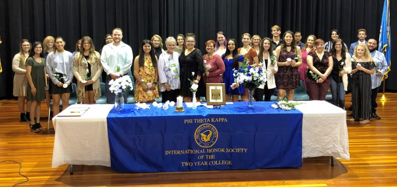 A group of 28 Seminole State College students were inducted into the Phi Theta Kappa honor society at the Jeff Johnston Fine Arts Center on Oct. 3.