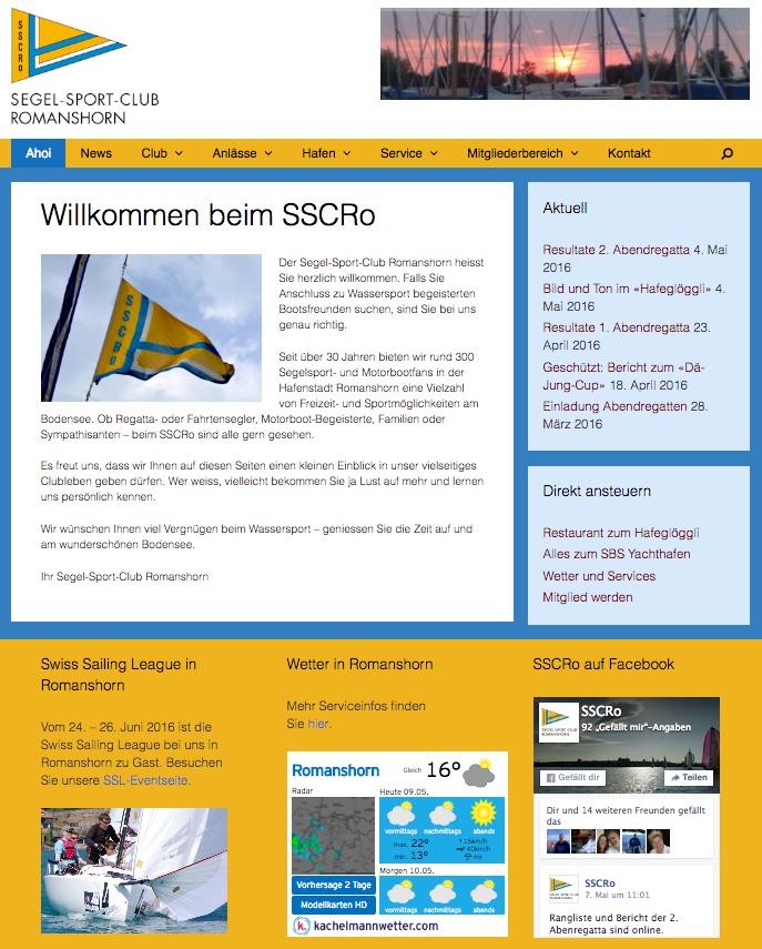 Neue Webseite Segel-Sport-Club Romanshorn SSCRo