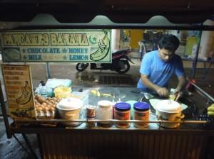 Street Vendor- Banana Pancakes!